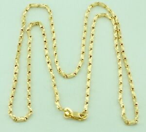 8.50 Gram 18K Solid Yellow Gold Necklace Chain Diamond cut  Box 20 Inches