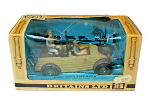 BRITAINS DEETAIL MODELS #9785 KUBELWAGEN AFRIKA KORPS SCOUT CAR MINT BOXED...!!