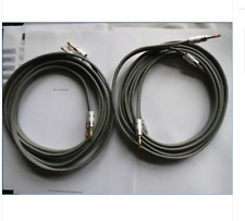 LINN K20 PAIR OF USED 3.5 M CABLES WITH NEW NAKAMICHI PLUGS
