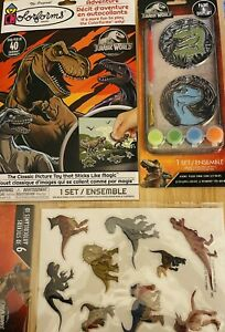 Jurassic World Sticker Story Adventure, Paint Set And 3D Stickers 3 Total Items