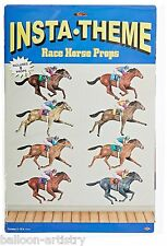 Horse Racing Derby Horses Cut Outs Party Hanging Wall Decorations Props Party