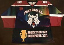 Rare Nahl Fairbanks IceDogs 2011 Robertson Cup Champions Hockey Jersey
