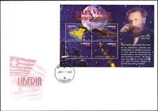 LIBERIA  2005 JULES VERNE M/S   FDC SPACE, BALLOONS