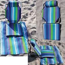 Backpack Beach Chair lightweight aluminum 1.5 lbs low seat lounger mat/pouch