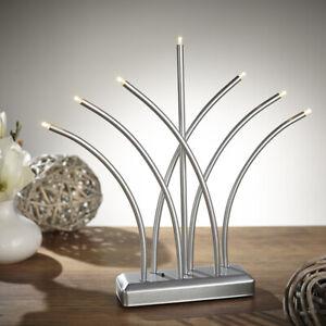LED Lichterbogen Advent Weihnachtsleuchter Fächer XMAS Chrom SL51-1 Dekoleuchte