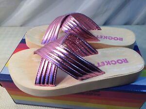 Rocket Dog Womens Moon Shimmy Pink Platform Sandals Mules Size UK 7 /EU40 RRP£32