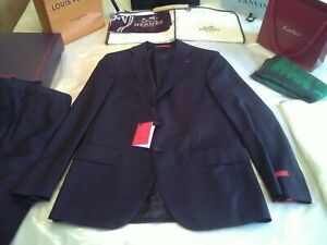 NWT £2250 Isaia Napoli lk Cucinelli Kiton Aquaspider navy blazer S 38 UK EU 48