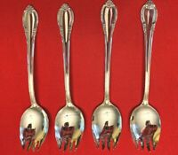 REMEMBRANCE 1847 Rogers Bros Silverplate Lot of 4 ICE CREAM FORKS 1948