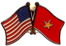 Lot Of 3 Vietnam Friendship Flag Lapel Pins- Vietnam Crossed Flag Pin