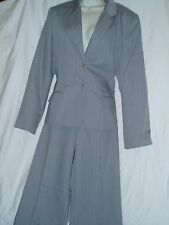 2 PC Tower Hill Collections Suit Outfit Pants & Blazer Gray Pin Stripe NWT S-14