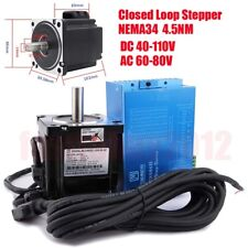 JMC 4.5NM Closed Loop Stepper Motor NEMA34 Hybrid Servo Driver Kit for Engraving