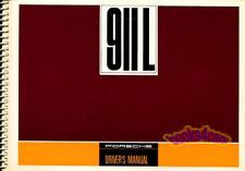 PORSCHE 911 OWNERS MANUAL 1968 911L DRIVERS HANDBOOK GUIDE BOOK