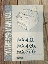 Brother Fax Machine Owners Manual 4100 4750e 5750e Leaflet Instructions Book