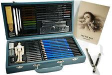 60 pcs Professional Drawing Artist Kit Set Pastel Pencils Sketch Kit