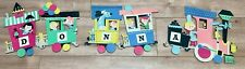 """Vintage Dolly Toy Co Kids Train Wall Hanging Press Board 1960's """"Donna"""""""