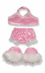 """Pink Negligee Pajamas Outfit Teddy Bear Clothes Fits Most 14"""" - 18"""" Build-a-bear"""