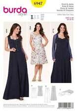 Schnittmuster Burda 6947 Kleid und Jacke Gr. 44-60