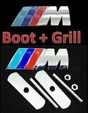 Quality New BMW Grill and Boot SET M-Tech Power Sport Badge Emblem - Silver