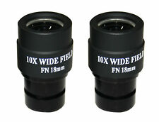 Paire Extra Large Champ 10x FOV 18 mm Oculaire pour zess Leitz Nikon toute microscope
