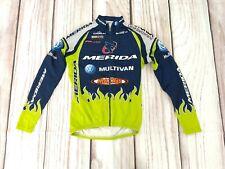 Vintage Biemee Cycling Jersey Long Sleeve Advertising Sponsors Full Zip M/L