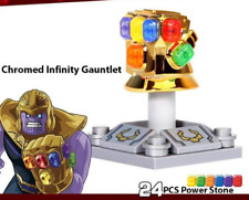 Lego Custom Infinity Gauntlet Chrome Gold with Stones Infinity War- AU SELLER