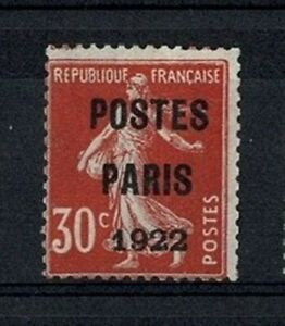 "FRANCE STAMP TIMBRE PREOBLITERE 32 "" SEMEUSE 30c POSTES 1922 "" NEUF (x) TB  V773"