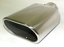 Auspuffblende Endrohr 135 x 80 mm oval Edelstahl zum anschrauben bis 5,3 cm