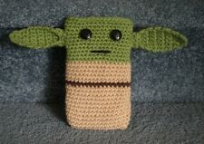 Hand Crocheted Star Wars Yoda Cell Phone iPhone Nintendo 3DS Holder Case Cover