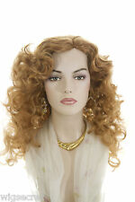 Long Blonde Brunette Red Wavy Curly Skin Top Wigs