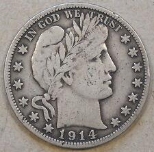 1914-S Barber Half Dollar F+