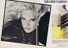 PUBLICITE ADVERTISING 045 1984 MOLYNEUX GAULOISE avec S. VARTAN   (2 pages)