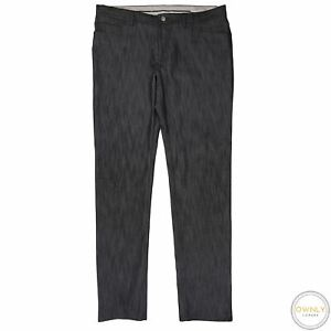 LNWOT Brioni Black Cotton Blend Denim Unlined Flat F. 5-Pocket Italy Jeans 38W