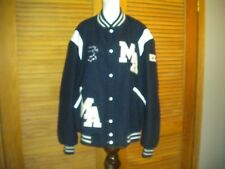 Vintage 1990s Butwin Blue White Wool Leather Band Letterman Varsity Jacket #7225