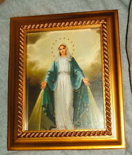OUR LADY OF GRACE Antique Gold Framed Print 8x10 New Catholic MARY Graces