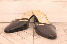 ETIENNE AIGNER Black Leather Low Stiletto Court Pumps High Heels RRP £225 EU 39