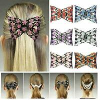 Magic Beads Elasticity Double Hair Comb Clip Stretchy Combs Clips Hair F4K1