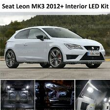 PREMIUM SEAT LEON 5F MK3 2012-2018 WHITE INTERIOR LED XENON LIGHT KIT BULB ST