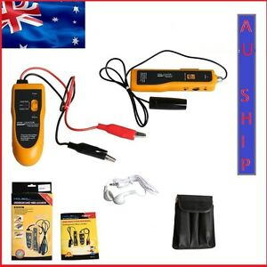 AU Ship NF-816 Underground Cable Wire Locator Tracker Lan With Earphone Tester Y