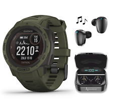 Garmin Instinct Solar Premium GPS Smartwatch Tactical Edition with Earbuds