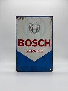 Blechschild Bosch Service 20x30cm Nostalgie Retro Reklame Vintage Deko Werkstatt