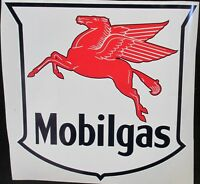MOBILGAS PEGASUS OIL VINYL DECAL *Gas & Oil / GAS PUMP STICKERS / MOBIL PEGASUS