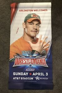 John Cena Street Banner of WWE Wrestlemania 32 Arlington Texas AT&T Stadium Flag