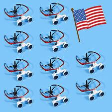 USA- 10 Dental Surgical Medical Binocular Loupes magnifying glasses 3.5x420mm