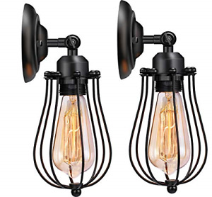 Wire Cage Wall Sconce Licperron Adjustable Industrial Wall Sconce 2 Pack Vintage