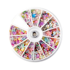 1200Pcs Nail Art Stickers DIY Pearl Polymer Clay Stamping Manicure Decals  #G