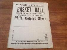 1930's PHILADELPHIA COLORED STARS ADVERTISING SIGN