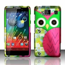 For Motorola Droid RAZR MAXX HD HARD Case Snap On Phone Cover Green Owl