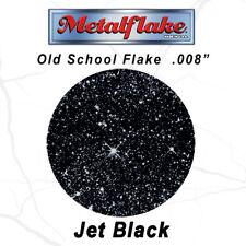 METAL FLAKE AUTO BLACK GLITTER (0.008) CUSTOM PAINT FLAKES 60GRAM 2OZ JET BLACK