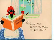 Afro-American Get Well Card with Detachable Convalescent Cook Book 1930