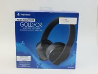 Sony PlayStation 4 PS4 Gold Wireless Stereo Headset (Full Set)